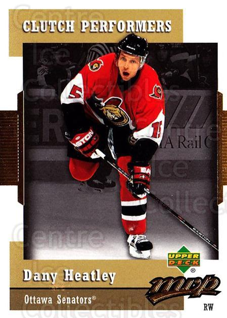 2006-07 Upper Deck MVP Clutch Performers #8 Dany Heatley<br/>2 In Stock - $2.00 each - <a href=https://centericecollectibles.foxycart.com/cart?name=2006-07%20Upper%20Deck%20MVP%20Clutch%20Performers%20%238%20Dany%20Heatley...&quantity_max=2&price=$2.00&code=228652 class=foxycart> Buy it now! </a>