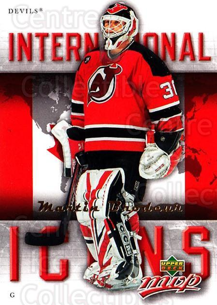 2006-07 Upper Deck MVP International Icons #14 Martin Brodeur<br/>2 In Stock - $2.00 each - <a href=https://centericecollectibles.foxycart.com/cart?name=2006-07%20Upper%20Deck%20MVP%20International%20Icons%20%2314%20Martin%20Brodeur...&price=$2.00&code=228708 class=foxycart> Buy it now! </a>