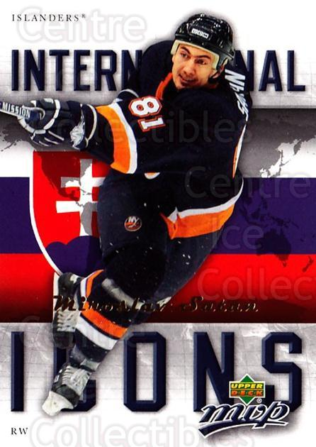2006-07 Upper Deck MVP International Icons #15 Miroslav Satan<br/>4 In Stock - $2.00 each - <a href=https://centericecollectibles.foxycart.com/cart?name=2006-07%20Upper%20Deck%20MVP%20International%20Icons%20%2315%20Miroslav%20Satan...&quantity_max=4&price=$2.00&code=228709 class=foxycart> Buy it now! </a>