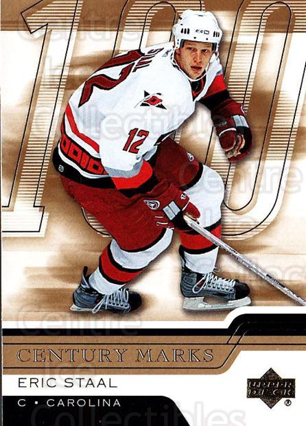 2006-07 Upper Deck Century Marks #6 Eric Staal<br/>8 In Stock - $2.00 each - <a href=https://centericecollectibles.foxycart.com/cart?name=2006-07%20Upper%20Deck%20Century%20Marks%20%236%20Eric%20Staal...&quantity_max=8&price=$2.00&code=228757 class=foxycart> Buy it now! </a>