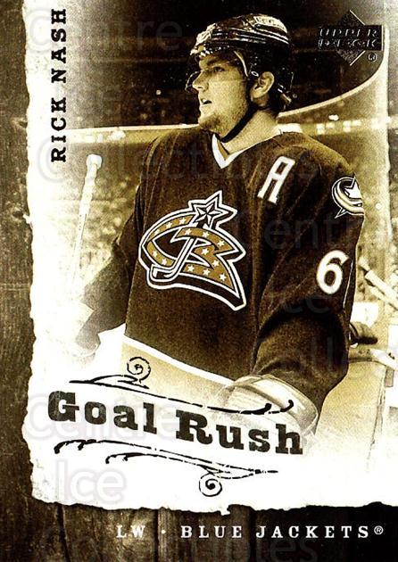 2006-07 Upper Deck Goal Rush #5 Rick Nash<br/>5 In Stock - $2.00 each - <a href=https://centericecollectibles.foxycart.com/cart?name=2006-07%20Upper%20Deck%20Goal%20Rush%20%235%20Rick%20Nash...&quantity_max=5&price=$2.00&code=228763 class=foxycart> Buy it now! </a>