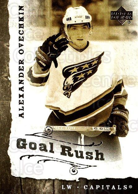 2006-07 Upper Deck Goal Rush #9 Alexander Ovechkin<br/>2 In Stock - $5.00 each - <a href=https://centericecollectibles.foxycart.com/cart?name=2006-07%20Upper%20Deck%20Goal%20Rush%20%239%20Alexander%20Ovech...&price=$5.00&code=228767 class=foxycart> Buy it now! </a>