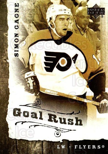 2006-07 Upper Deck Goal Rush #10 Simon Gagne<br/>5 In Stock - $2.00 each - <a href=https://centericecollectibles.foxycart.com/cart?name=2006-07%20Upper%20Deck%20Goal%20Rush%20%2310%20Simon%20Gagne...&quantity_max=5&price=$2.00&code=228768 class=foxycart> Buy it now! </a>
