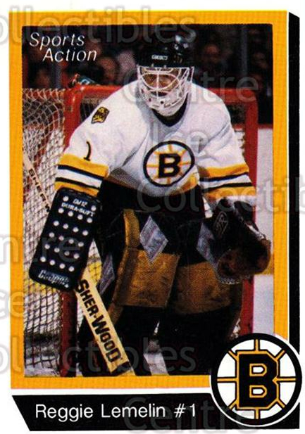 1988-89 Boston Bruins Sports Action #10 Rejean Lemelin<br/>1 In Stock - $3.00 each - <a href=https://centericecollectibles.foxycart.com/cart?name=1988-89%20Boston%20Bruins%20Sports%20Action%20%2310%20Rejean%20Lemelin...&price=$3.00&code=22877 class=foxycart> Buy it now! </a>