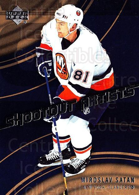 2006-07 Upper Deck Shootout Artists #2 Miroslav Satan<br/>8 In Stock - $2.00 each - <a href=https://centericecollectibles.foxycart.com/cart?name=2006-07%20Upper%20Deck%20Shootout%20Artists%20%232%20Miroslav%20Satan...&quantity_max=8&price=$2.00&code=228788 class=foxycart> Buy it now! </a>