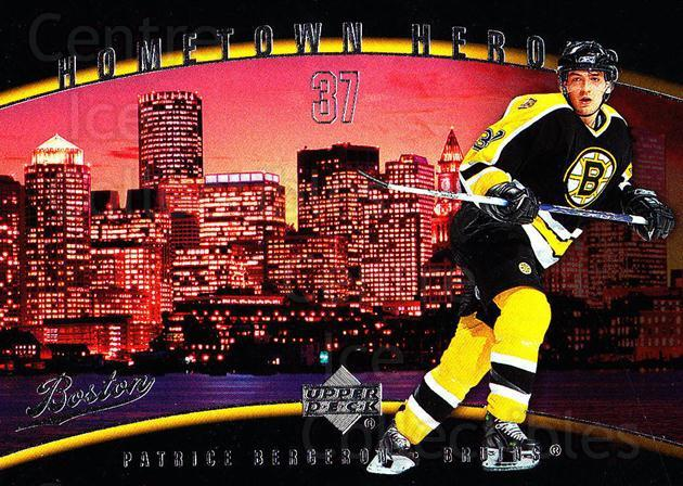 2006-07 Upper Deck Hometown Heroes #30 Patrice Bergeron<br/>6 In Stock - $3.00 each - <a href=https://centericecollectibles.foxycart.com/cart?name=2006-07%20Upper%20Deck%20Hometown%20Heroes%20%2330%20Patrice%20Bergero...&quantity_max=6&price=$3.00&code=228802 class=foxycart> Buy it now! </a>