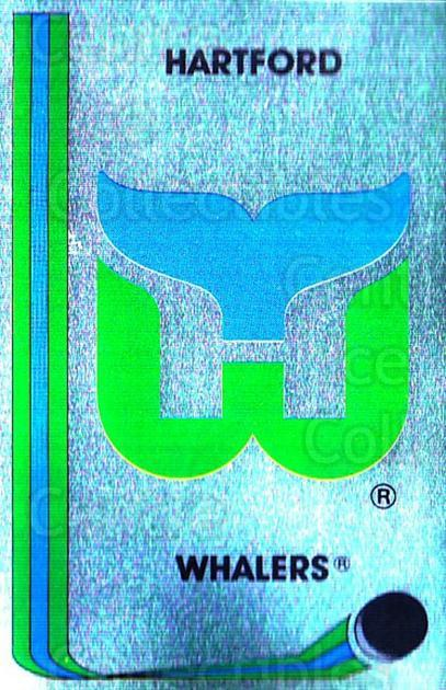 1989-90 Panini Stickers #218 Hartford Whalers<br/>2 In Stock - $1.00 each - <a href=https://centericecollectibles.foxycart.com/cart?name=1989-90%20Panini%20Stickers%20%23218%20Hartford%20Whaler...&quantity_max=2&price=$1.00&code=228 class=foxycart> Buy it now! </a>