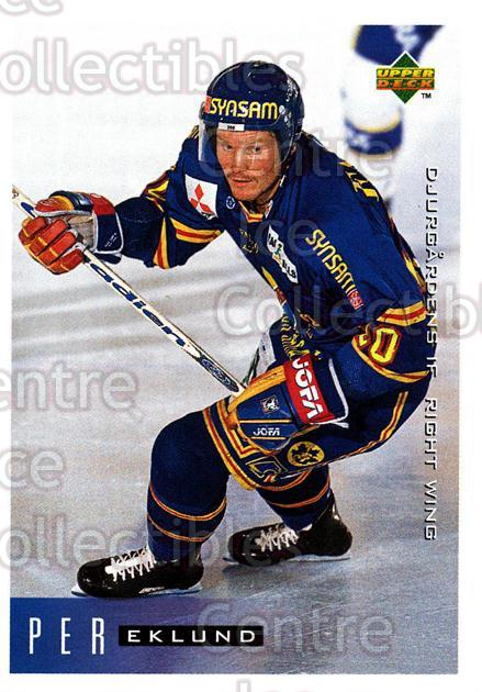 1995-96 Swedish Upper Deck #50 Per Eklund<br/>8 In Stock - $2.00 each - <a href=https://centericecollectibles.foxycart.com/cart?name=1995-96%20Swedish%20Upper%20Deck%20%2350%20Per%20Eklund...&price=$2.00&code=229279 class=foxycart> Buy it now! </a>
