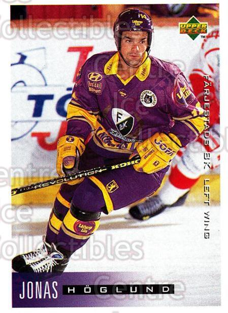 1995-96 Swedish Upper Deck #68 Jonas Hoglund<br/>8 In Stock - $2.00 each - <a href=https://centericecollectibles.foxycart.com/cart?name=1995-96%20Swedish%20Upper%20Deck%20%2368%20Jonas%20Hoglund...&quantity_max=8&price=$2.00&code=229280 class=foxycart> Buy it now! </a>