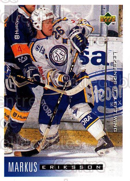 1995-96 Swedish Upper Deck #111 Markus Eriksson<br/>7 In Stock - $2.00 each - <a href=https://centericecollectibles.foxycart.com/cart?name=1995-96%20Swedish%20Upper%20Deck%20%23111%20Markus%20Eriksson...&quantity_max=7&price=$2.00&code=229282 class=foxycart> Buy it now! </a>