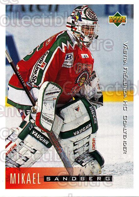 1995-96 Swedish Upper Deck #204 Mikael Sandberg<br/>5 In Stock - $2.00 each - <a href=https://centericecollectibles.foxycart.com/cart?name=1995-96%20Swedish%20Upper%20Deck%20%23204%20Mikael%20Sandberg...&quantity_max=5&price=$2.00&code=229284 class=foxycart> Buy it now! </a>