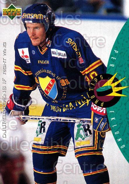 1995-96 Swedish Upper Deck #222 Per Eklund<br/>7 In Stock - $2.00 each - <a href=https://centericecollectibles.foxycart.com/cart?name=1995-96%20Swedish%20Upper%20Deck%20%23222%20Per%20Eklund...&price=$2.00&code=229285 class=foxycart> Buy it now! </a>