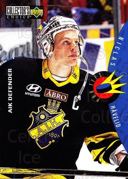 1997-98 Swedish Collectors Choice #209 Niclas Havelid<br/>2 In Stock - $2.00 each - <a href=https://centericecollectibles.foxycart.com/cart?name=1997-98%20Swedish%20Collectors%20Choice%20%23209%20Niclas%20Havelid...&quantity_max=2&price=$2.00&code=229302 class=foxycart> Buy it now! </a>
