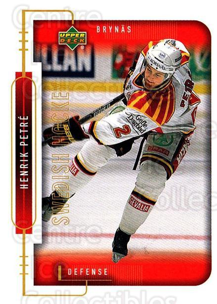 1999-00 Swedish Upper Deck #21 Henrik Petre<br/>1 In Stock - $2.00 each - <a href=https://centericecollectibles.foxycart.com/cart?name=1999-00%20Swedish%20Upper%20Deck%20%2321%20Henrik%20Petre...&quantity_max=1&price=$2.00&code=229306 class=foxycart> Buy it now! </a>