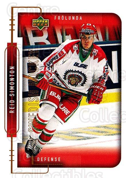 1999-00 Swedish Upper Deck #76 Reid Simonton<br/>2 In Stock - $2.00 each - <a href=https://centericecollectibles.foxycart.com/cart?name=1999-00%20Swedish%20Upper%20Deck%20%2376%20Reid%20Simonton...&quantity_max=2&price=$2.00&code=229309 class=foxycart> Buy it now! </a>