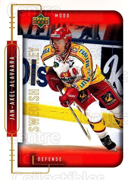 1999-00 Swedish Upper Deck #171 Jan-Axel Alavaara<br/>2 In Stock - $2.00 each - <a href=https://centericecollectibles.foxycart.com/cart?name=1999-00%20Swedish%20Upper%20Deck%20%23171%20Jan-Axel%20Alavaa...&quantity_max=2&price=$2.00&code=229314 class=foxycart> Buy it now! </a>