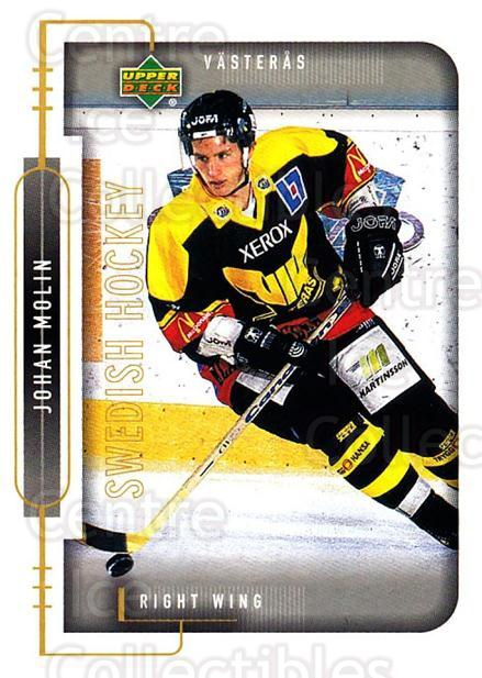 1999-00 Swedish Upper Deck #196 Johan Molin<br/>2 In Stock - $2.00 each - <a href=https://centericecollectibles.foxycart.com/cart?name=1999-00%20Swedish%20Upper%20Deck%20%23196%20Johan%20Molin...&quantity_max=2&price=$2.00&code=229319 class=foxycart> Buy it now! </a>