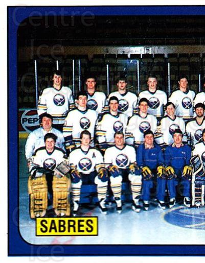 1988-89 Panini Stickers #231 Buffalo Sabres, Team Photo<br/>4 In Stock - $1.00 each - <a href=https://centericecollectibles.foxycart.com/cart?name=1988-89%20Panini%20Stickers%20%23231%20Buffalo%20Sabres,...&price=$1.00&code=22931 class=foxycart> Buy it now! </a>