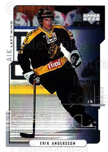 2000-01 Swedish Upper Deck #12 Erik Andersson<br/>3 In Stock - $2.00 each - <a href=https://centericecollectibles.foxycart.com/cart?name=2000-01%20Swedish%20Upper%20Deck%20%2312%20Erik%20Andersson...&quantity_max=3&price=$2.00&code=229323 class=foxycart> Buy it now! </a>