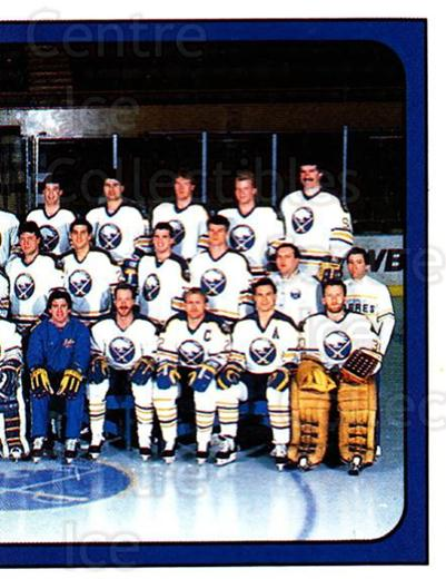 1988-89 Panini Stickers #232 Buffalo Sabres, Team Photo<br/>5 In Stock - $1.00 each - <a href=https://centericecollectibles.foxycart.com/cart?name=1988-89%20Panini%20Stickers%20%23232%20Buffalo%20Sabres,...&price=$1.00&code=22932 class=foxycart> Buy it now! </a>