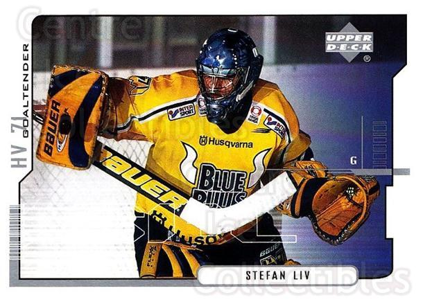 2000-01 Swedish Upper Deck #92 Stefan Liv<br/>2 In Stock - $2.00 each - <a href=https://centericecollectibles.foxycart.com/cart?name=2000-01%20Swedish%20Upper%20Deck%20%2392%20Stefan%20Liv...&price=$2.00&code=229341 class=foxycart> Buy it now! </a>