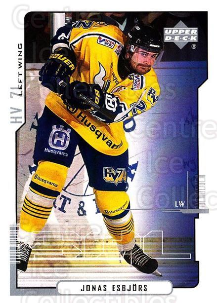 2000-01 Swedish Upper Deck #102 Jonas Esbjors<br/>4 In Stock - $2.00 each - <a href=https://centericecollectibles.foxycart.com/cart?name=2000-01%20Swedish%20Upper%20Deck%20%23102%20Jonas%20Esbjors...&price=$2.00&code=229342 class=foxycart> Buy it now! </a>
