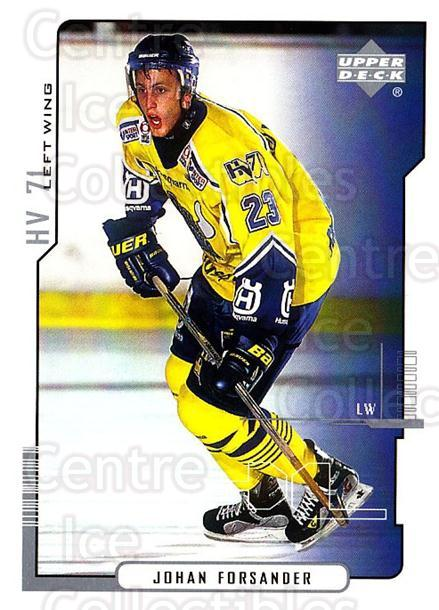 2000-01 Swedish Upper Deck #103 Johan Forsander<br/>3 In Stock - $2.00 each - <a href=https://centericecollectibles.foxycart.com/cart?name=2000-01%20Swedish%20Upper%20Deck%20%23103%20Johan%20Forsander...&price=$2.00&code=229343 class=foxycart> Buy it now! </a>