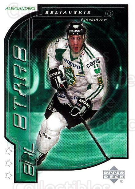 2000-01 Swedish Upper Deck #182 Alexander Beliavski<br/>1 In Stock - $2.00 each - <a href=https://centericecollectibles.foxycart.com/cart?name=2000-01%20Swedish%20Upper%20Deck%20%23182%20Alexander%20Belia...&quantity_max=1&price=$2.00&code=229355 class=foxycart> Buy it now! </a>