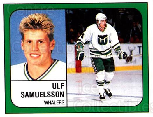 1988-89 Panini Stickers #238 Ulf Samuelsson<br/>4 In Stock - $1.00 each - <a href=https://centericecollectibles.foxycart.com/cart?name=1988-89%20Panini%20Stickers%20%23238%20Ulf%20Samuelsson...&quantity_max=4&price=$1.00&code=22938 class=foxycart> Buy it now! </a>