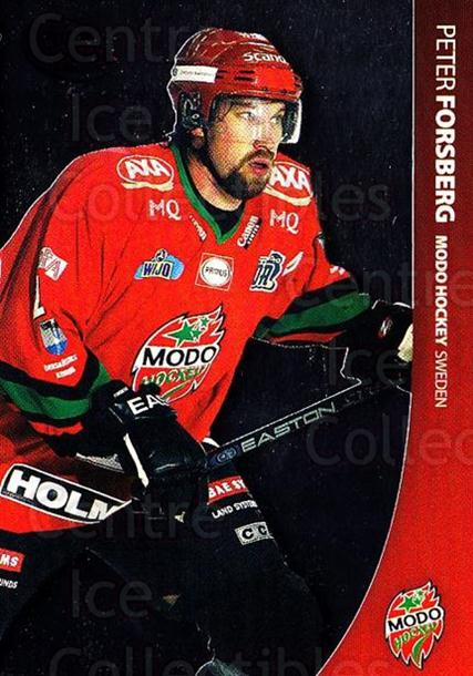 2004-05 Swedish Pure Skills #69 Peter Forsberg<br/>1 In Stock - $5.00 each - <a href=https://centericecollectibles.foxycart.com/cart?name=2004-05%20Swedish%20Pure%20Skills%20%2369%20Peter%20Forsberg...&quantity_max=1&price=$5.00&code=229410 class=foxycart> Buy it now! </a>