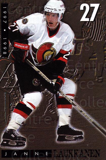 1997-98 Ottawa Senators Team Issue #18 Janne Laukkanen<br/>1 In Stock - $3.00 each - <a href=https://centericecollectibles.foxycart.com/cart?name=1997-98%20Ottawa%20Senators%20Team%20Issue%20%2318%20Janne%20Laukkanen...&quantity_max=1&price=$3.00&code=229467 class=foxycart> Buy it now! </a>