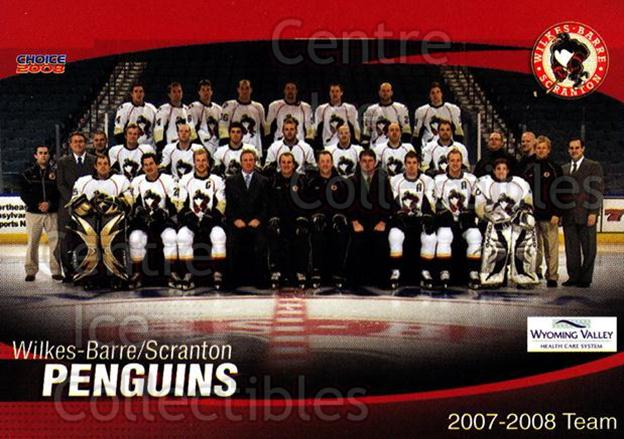 2007-08 Wilkes-Barre Scranton Penguins #29 Team Photo<br/>7 In Stock - $2.00 each - <a href=https://centericecollectibles.foxycart.com/cart?name=2007-08%20Wilkes-Barre%20Scranton%20Penguins%20%2329%20Team%20Photo...&price=$2.00&code=229543 class=foxycart> Buy it now! </a>