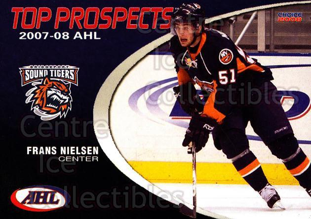 2007-08 AHL Top Prospects #4 Frans Nielsen<br/>5 In Stock - $3.00 each - <a href=https://centericecollectibles.foxycart.com/cart?name=2007-08%20AHL%20Top%20Prospects%20%234%20Frans%20Nielsen...&price=$3.00&code=229575 class=foxycart> Buy it now! </a>
