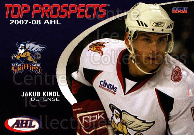 2007-08 AHL Top Prospects #9 Jakub Kindl<br/>6 In Stock - $3.00 each - <a href=https://centericecollectibles.foxycart.com/cart?name=2007-08%20AHL%20Top%20Prospects%20%239%20Jakub%20Kindl...&quantity_max=6&price=$3.00&code=229580 class=foxycart> Buy it now! </a>