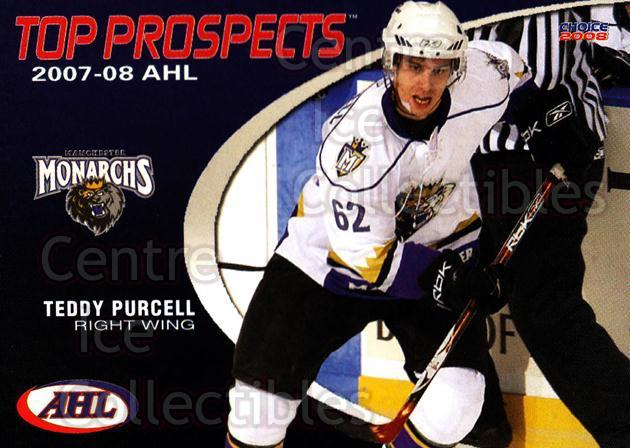 2007-08 AHL Top Prospects #22 Teddy Purcell<br/>6 In Stock - $3.00 each - <a href=https://centericecollectibles.foxycart.com/cart?name=2007-08%20AHL%20Top%20Prospects%20%2322%20Teddy%20Purcell...&quantity_max=6&price=$3.00&code=229593 class=foxycart> Buy it now! </a>