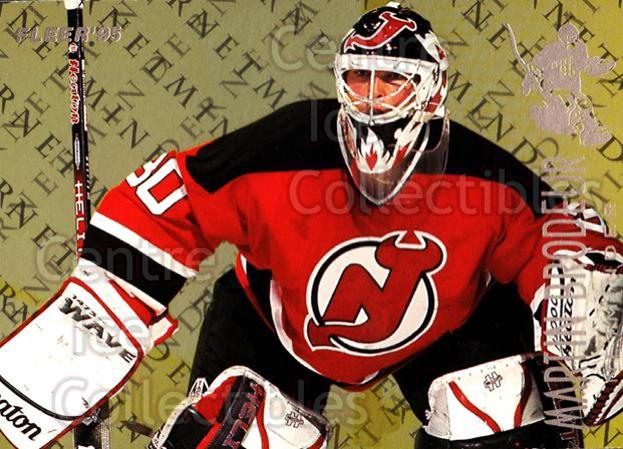1994-95 Fleer Netminders #2 Martin Brodeur<br/>5 In Stock - $2.00 each - <a href=https://centericecollectibles.foxycart.com/cart?name=1994-95%20Fleer%20Netminders%20%232%20Martin%20Brodeur...&price=$2.00&code=229623 class=foxycart> Buy it now! </a>