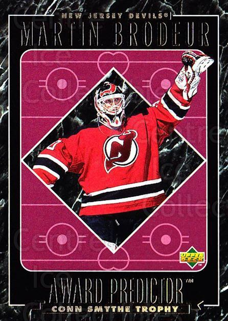 1995-96 Upper Deck Predictor Retail Redeemed #57 Martin Brodeur<br/>4 In Stock - $5.00 each - <a href=https://centericecollectibles.foxycart.com/cart?name=1995-96%20Upper%20Deck%20Predictor%20Retail%20Redeemed%20%2357%20Martin%20Brodeur...&price=$5.00&code=229656 class=foxycart> Buy it now! </a>