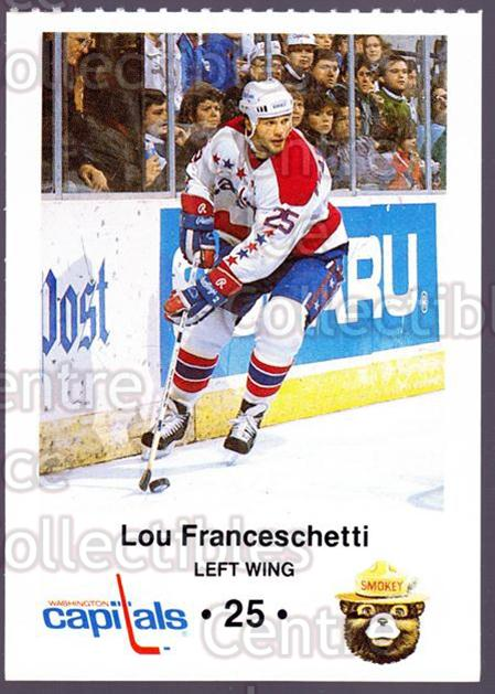 1988-89 Washington Capitals Smokey #4 Lou Franceschetti<br/>5 In Stock - $3.00 each - <a href=https://centericecollectibles.foxycart.com/cart?name=1988-89%20Washington%20Capitals%20Smokey%20%234%20Lou%20Franceschet...&quantity_max=5&price=$3.00&code=22989 class=foxycart> Buy it now! </a>