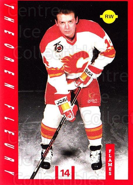 1991-92 Calgary Flames IGA #1 Theo Fleury<br/>7 In Stock - $5.00 each - <a href=https://centericecollectibles.foxycart.com/cart?name=1991-92%20Calgary%20Flames%20IGA%20%231%20Theo%20Fleury...&quantity_max=7&price=$5.00&code=229912 class=foxycart> Buy it now! </a>