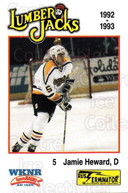 1992-93 Cleveland Lumberjacks #7 Jamie Heward<br/>2 In Stock - $3.00 each - <a href=https://centericecollectibles.foxycart.com/cart?name=1992-93%20Cleveland%20Lumberjacks%20%237%20Jamie%20Heward...&quantity_max=2&price=$3.00&code=229921 class=foxycart> Buy it now! </a>