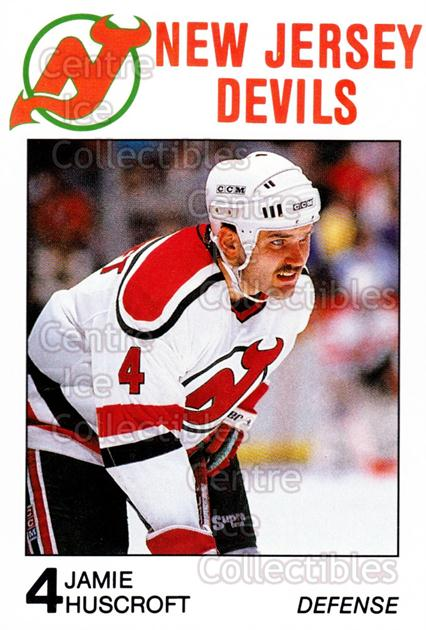 1988-89 New Jersey Devils Caretta #12 Jamie Huscroft<br/>3 In Stock - $3.00 each - <a href=https://centericecollectibles.foxycart.com/cart?name=1988-89%20New%20Jersey%20Devils%20Caretta%20%2312%20Jamie%20Huscroft...&quantity_max=3&price=$3.00&code=22996 class=foxycart> Buy it now! </a>