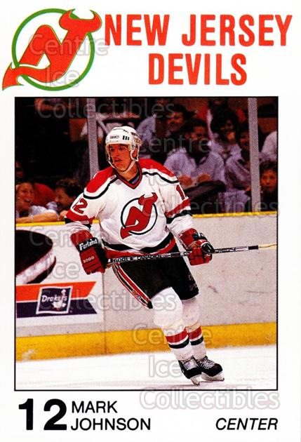 1988-89 New Jersey Devils Caretta #13 Mark Johnson<br/>7 In Stock - $3.00 each - <a href=https://centericecollectibles.foxycart.com/cart?name=1988-89%20New%20Jersey%20Devils%20Caretta%20%2313%20Mark%20Johnson...&quantity_max=7&price=$3.00&code=22997 class=foxycart> Buy it now! </a>