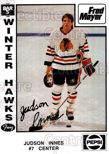 1989-90 Portland Winter Hawks #11 Judson Innes<br/>3 In Stock - $3.00 each - <a href=https://centericecollectibles.foxycart.com/cart?name=1989-90%20Portland%20Winter%20Hawks%20%2311%20Judson%20Innes...&quantity_max=3&price=$3.00&code=229 class=foxycart> Buy it now! </a>