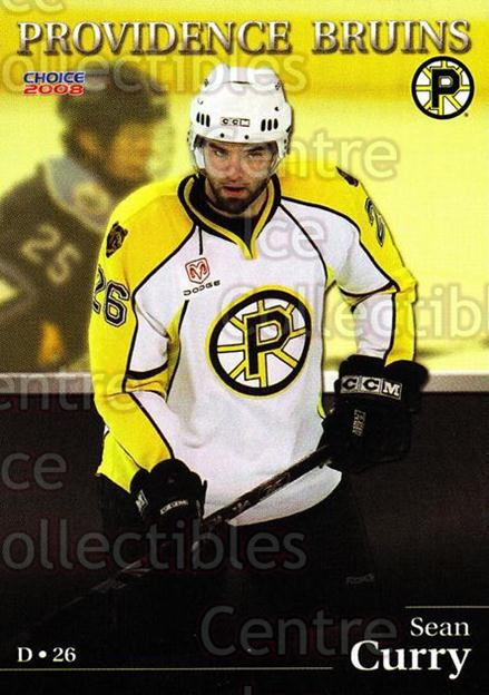 2007-08 Providence Bruins #3 Sean Curry<br/>8 In Stock - $3.00 each - <a href=https://centericecollectibles.foxycart.com/cart?name=2007-08%20Providence%20Bruins%20%233%20Sean%20Curry...&price=$3.00&code=230009 class=foxycart> Buy it now! </a>