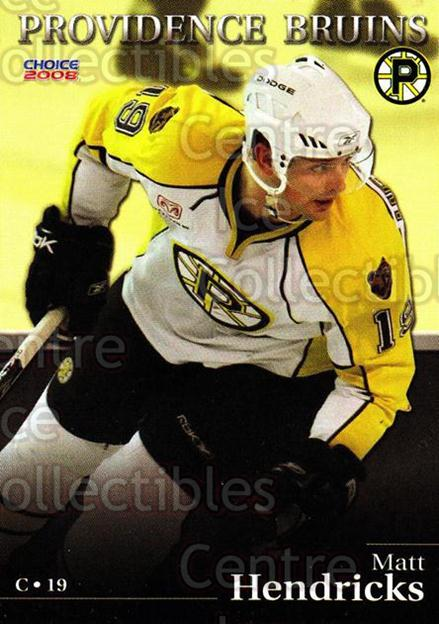 2007-08 Providence Bruins #4 Matt Hendricks<br/>7 In Stock - $3.00 each - <a href=https://centericecollectibles.foxycart.com/cart?name=2007-08%20Providence%20Bruins%20%234%20Matt%20Hendricks...&price=$3.00&code=230010 class=foxycart> Buy it now! </a>