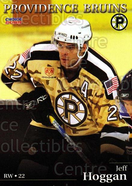 2007-08 Providence Bruins #5 Jeff Hoggan<br/>7 In Stock - $3.00 each - <a href=https://centericecollectibles.foxycart.com/cart?name=2007-08%20Providence%20Bruins%20%235%20Jeff%20Hoggan...&price=$3.00&code=230011 class=foxycart> Buy it now! </a>