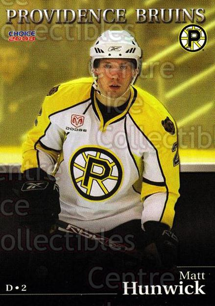 2007-08 Providence Bruins #6 Matt Hunwick<br/>6 In Stock - $3.00 each - <a href=https://centericecollectibles.foxycart.com/cart?name=2007-08%20Providence%20Bruins%20%236%20Matt%20Hunwick...&price=$3.00&code=230012 class=foxycart> Buy it now! </a>