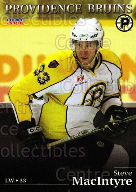 2007-08 Providence Bruins #10 Steve Macintyre<br/>6 In Stock - $3.00 each - <a href=https://centericecollectibles.foxycart.com/cart?name=2007-08%20Providence%20Bruins%20%2310%20Steve%20Macintyre...&price=$3.00&code=230016 class=foxycart> Buy it now! </a>