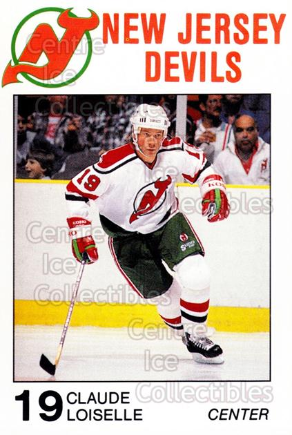 1988-89 New Jersey Devils Caretta #17 Claude Loiselle<br/>6 In Stock - $3.00 each - <a href=https://centericecollectibles.foxycart.com/cart?name=1988-89%20New%20Jersey%20Devils%20Caretta%20%2317%20Claude%20Loiselle...&quantity_max=6&price=$3.00&code=23001 class=foxycart> Buy it now! </a>