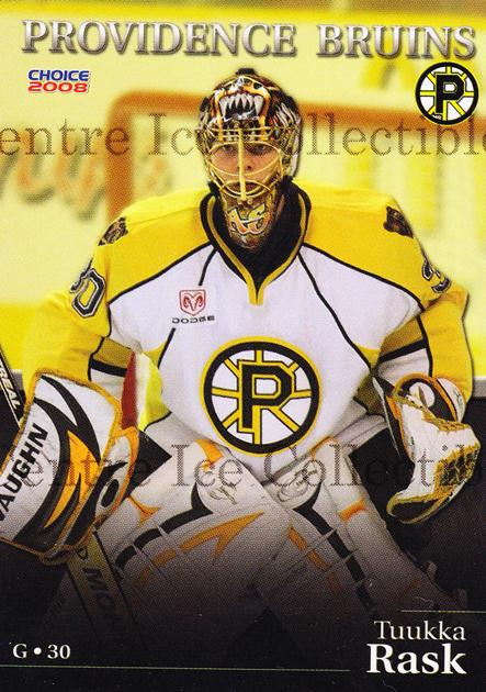 2007-08 Providence Bruins #15 Tuukka Rask<br/>6 In Stock - $10.00 each - <a href=https://centericecollectibles.foxycart.com/cart?name=2007-08%20Providence%20Bruins%20%2315%20Tuukka%20Rask...&price=$10.00&code=230021 class=foxycart> Buy it now! </a>
